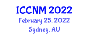 International Conference on Conflicts in Neogeography Maps (ICCNM) February 25, 2022 - Sydney, Australia