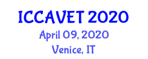 International Conference on Connected and Automated Vehicle Engineering and Technology (ICCAVET) April 09, 2020 - Venice, Italy