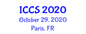 International Conference on Consciousness Science (ICCS) October 29, 2020 - Paris, France