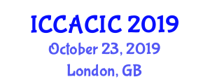 International Conference on Construction Automation and Computer-Integrated Construction (ICCACIC) October 23, 2019 - London, United Kingdom