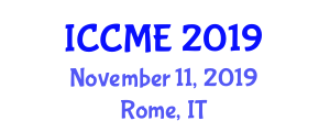 International Conference on Construction Materials Engineering (ICCME) November 11, 2019 - Rome, Italy