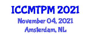 International Conference on Construction Methods, Trends, Prospects and Management (ICCMTPM) November 04, 2021 - Amsterdam, Netherlands