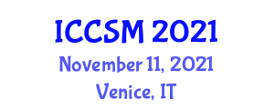 International Conference on Content Strategy and Management (ICCSM) November 11, 2021 - Venice, Italy