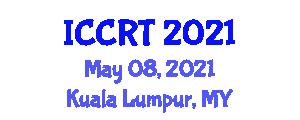 International Conference on Control and Robot Technology (ICCRT) May 08, 2021 - Kuala Lumpur, Malaysia