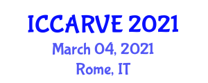 International Conference on Control, Automation, Robotics and Vision Engineering (ICCARVE) March 04, 2021 - Rome, Italy