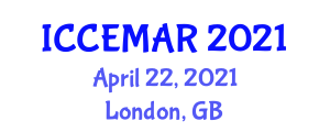 International Conference on Control Engineering, Mechanical Automation and Robotics (ICCEMAR) April 22, 2021 - London, United Kingdom