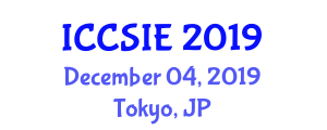 International Conference on Control Systems and Information Engineering (ICCSIE) December 04, 2019 - Tokyo, Japan