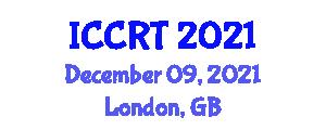 International Conference on Cooperative Robotic Technologies (ICCRT) December 09, 2021 - London, United Kingdom
