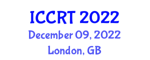 International Conference on Cooperative Robotic Technologies (ICCRT) December 09, 2022 - London, United Kingdom