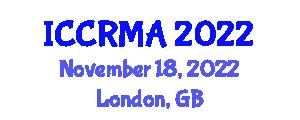 International Conference on Cooperative Robotics, Models and Algorithms (ICCRMA) November 18, 2022 - London, United Kingdom