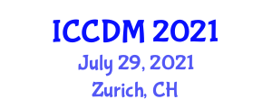 International Conference on Cryptology and Discrete Mathematics (ICCDM) July 29, 2021 - Zurich, Switzerland