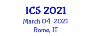 International Conference on Cryptology (ICS) March 04, 2021 - Rome, Italy