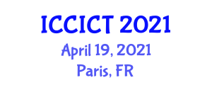International Conference on Cryptology, Information and Coding Theory (ICCICT) April 19, 2021 - Paris, France
