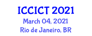 International Conference on Cryptology, Information and Coding Theory (ICCICT) March 04, 2021 - Rio de Janeiro, Brazil