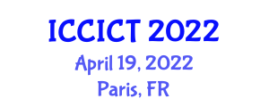 International Conference on Cryptology, Information and Coding Theory (ICCICT) April 19, 2022 - Paris, France