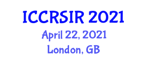 International Conference on Cultural Robotics and Socially Intelligent Robots (ICCRSIR) April 22, 2021 - London, United Kingdom