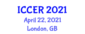 International Conference on Cybermanufacturing Engineering and Robotics (ICCER) April 22, 2021 - London, United Kingdom