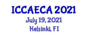 International Conference on Cybernetic Algorithms and Emergent Computing Algorithms (ICCAECA) July 19, 2021 - Helsinki, Finland