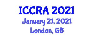 International Conference on Cybernetics, Robotics and Applications (ICCRA) January 21, 2021 - London, United Kingdom