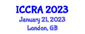 International Conference on Cybernetics, Robotics and Applications (ICCRA) January 21, 2023 - London, United Kingdom