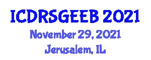 International Conference on Demand Response in Smart Grids and Energy Efficient Buildings (ICDRSGEEB) November 29, 2021 - Jerusalem, Israel