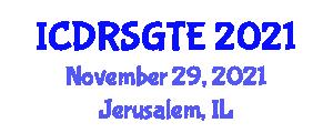 International Conference on Demand Response in Smart Grids and Transactive Energy (ICDRSGTE) November 29, 2021 - Jerusalem, Israel