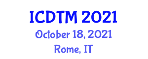 International Conference on Depression Treatment and Management (ICDTM) October 18, 2021 - Rome, Italy