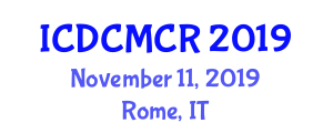 International Conference on Design, Control and Modeling of Collective Robotics (ICDCMCR) November 11, 2019 - Rome, Italy