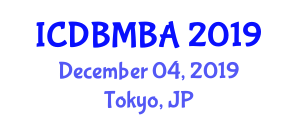 International Conference on Diamond-Based Materials for Biomedical Applications (ICDBMBA) December 04, 2019 - Tokyo, Japan