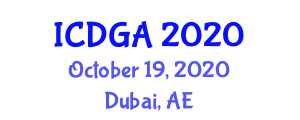 International Conference on Digital Geography and Applications (ICDGA) October 19, 2020 - Dubai, United Arab Emirates