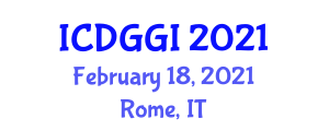 International Conference on Digital Geography and Geographic Information (ICDGGI) February 18, 2021 - Rome, Italy