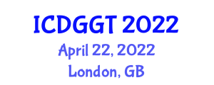 International Conference on Digital Geography and Geospatial Technologies (ICDGGT) April 22, 2022 - London, United Kingdom