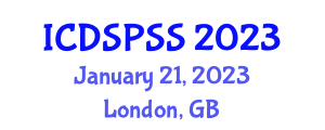 International Conference on Digital Signal Processing and Speech Signals (ICDSPSS) January 21, 2023 - London, United Kingdom