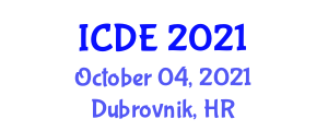 International Conference on Disaster Education (ICDE) October 04, 2021 - Dubrovnik, Croatia