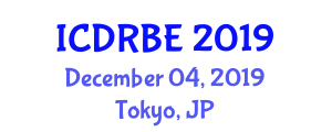 International Conference on Disaster Resilience for Built Environment (ICDRBE) December 04, 2019 - Tokyo, Japan