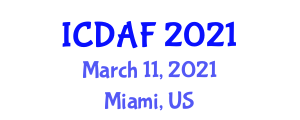 International Conference on Domestic Animal Food (ICDAF) March 11, 2021 - Miami, United States