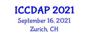 International Conference on Domestic Animals and Parasitology (ICCDAP) September 16, 2021 - Zurich, Switzerland