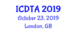 International Conference on Drone Technologies for Agriculture (ICDTA) October 23, 2019 - London, United Kingdom