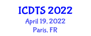 International Conference on Dynamic Tectonics and Seismology (ICDTS) April 19, 2022 - Paris, France