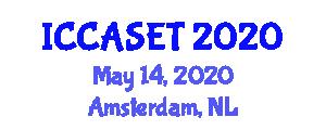 International Conference on E-commerce, E-administration, E-society, E-education and E-technology (ICCASET) May 14, 2020 - Amsterdam, Netherlands