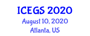 International Conference on Earth and Geological Sciences (ICEGS) August 10, 2020 - Atlanta, United States