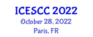 International Conference on Earth Science and Climate Change (ICESCC) October 28, 2022 - Paris, France