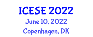 International Conference on Earth Sciences and Engineering (ICESE) June 10, 2022 - Copenhagen, Denmark
