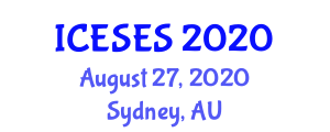 International Conference on Earth Sciences and Exploration Seismology (ICESES) August 27, 2020 - Sydney, Australia