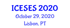 International Conference on Earth Sciences and Exploration Seismology (ICESES) October 29, 2020 - Lisbon, Portugal