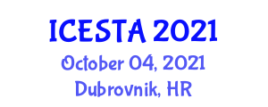 International Conference on Earth Sciences, Technologies and Applications (ICESTA) October 04, 2021 - Dubrovnik, Croatia