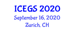 International Conference on Earthquake Geology and Seismology (ICEGS) September 16, 2020 - Zurich, Switzerland