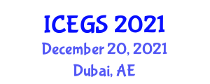 International Conference on Earthquake Geology and Seismology (ICEGS) December 20, 2021 - Dubai, United Arab Emirates