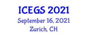 International Conference on Earthquake Geology and Seismology (ICEGS) September 16, 2021 - Zurich, Switzerland