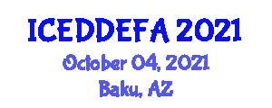 International Conference on Eating Disorders, Disordered Eating and Food Addiction (ICEDDEFA) October 04, 2021 - Baku, Azerbaijan